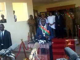 Premier discours à la nation de Michel Kafando quelques heures après son retour à la tête du Burkina