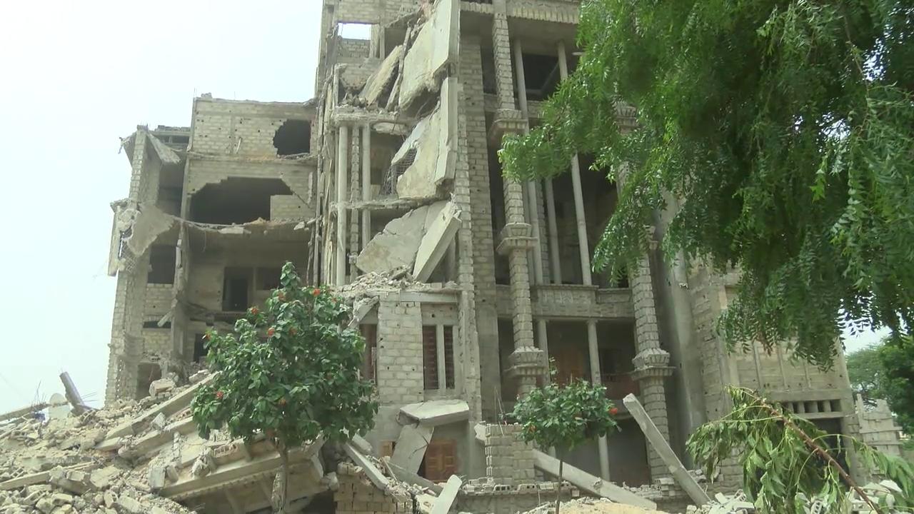 VIDEO     Revivez l'effondrement de l'immeuble R+6 à Diourbel