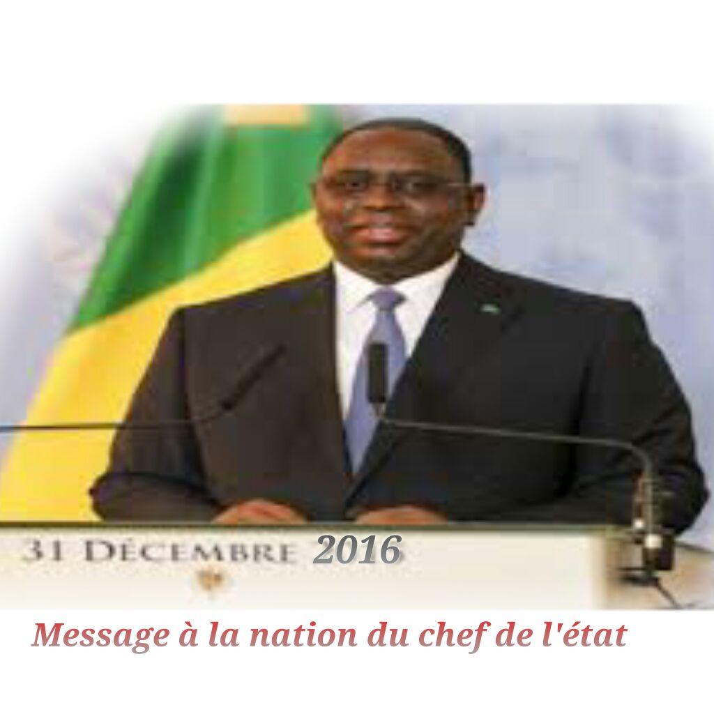31 décembre 2016 : Voici l'intégralité du message à la nation du chef de l'état Macky Sall
