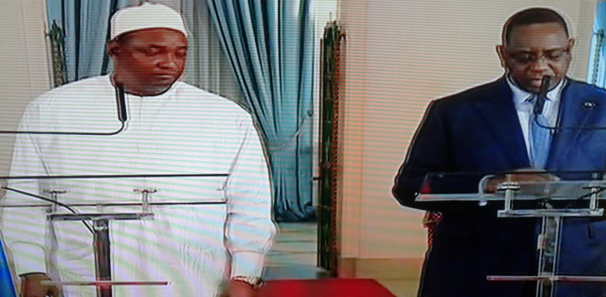 Coopération : Adama Barrow et Macky Sall en conférence de presse au palais prédidentiel