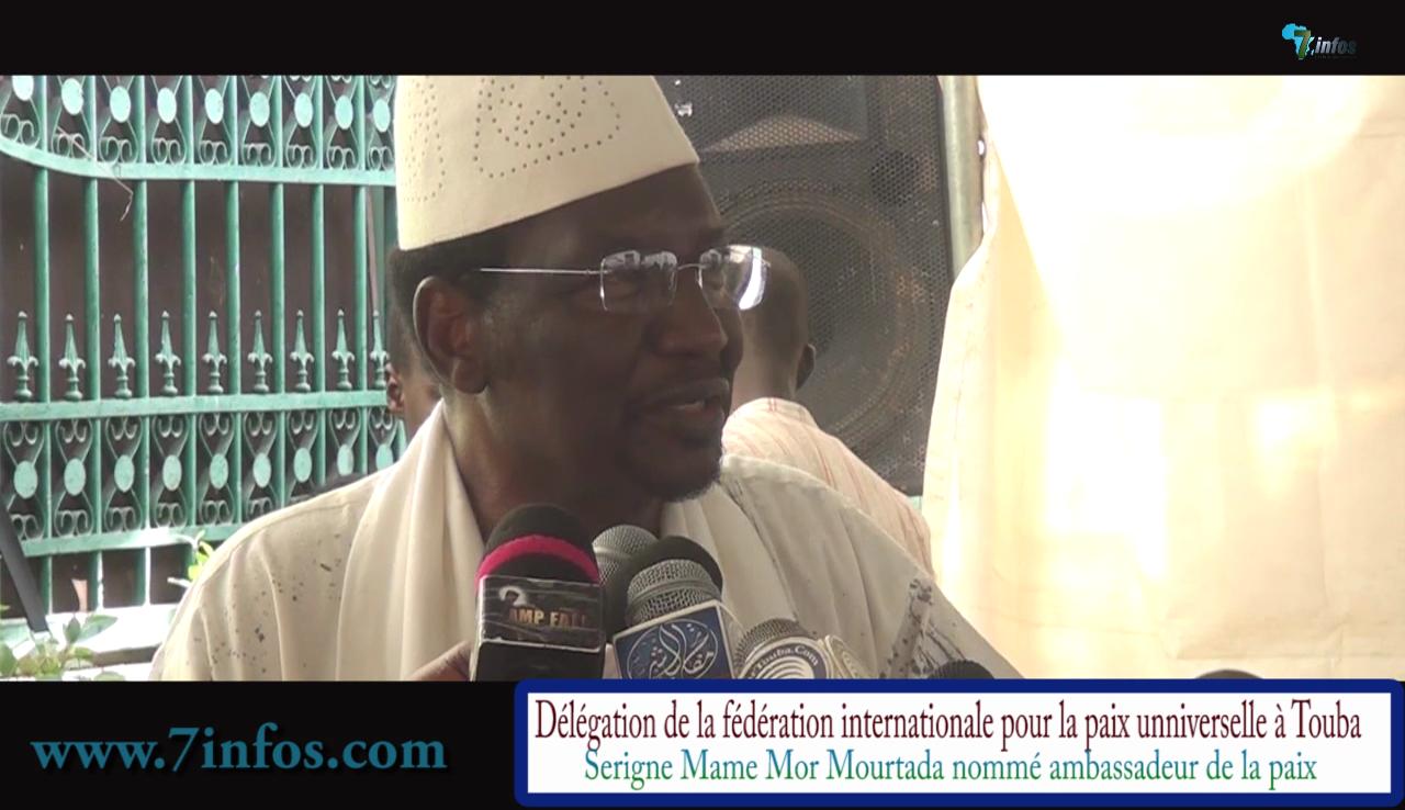 Diocounda Traoré ancien président par intérim du Mali donne des leçons de paix à Touba