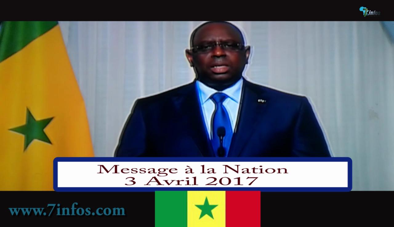 Indépendance : 4 AVRIL 2017, voici l'intégralité du message à la nation du président Macky Sall