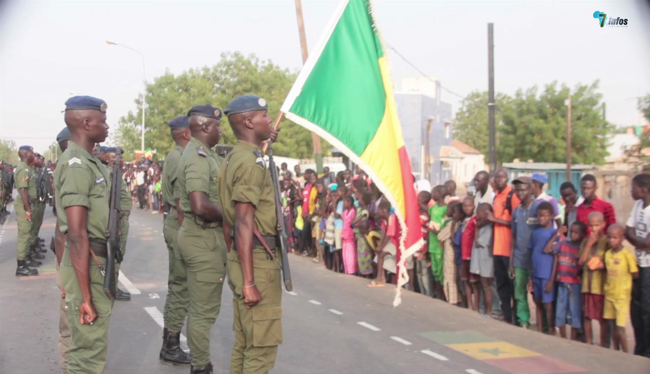 Fête de l'indépendance : Revue des effectifs avant le jour du défilé du 4 avril 2017 à Mbacké
