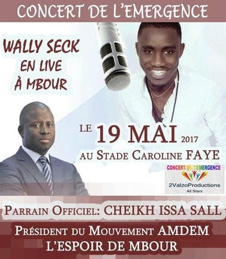 WALY SECK ENFLAMME LE STADE CAROLINE FAYE DE MBOUR , LE MOUVEMENT AMDEM ATTISE
