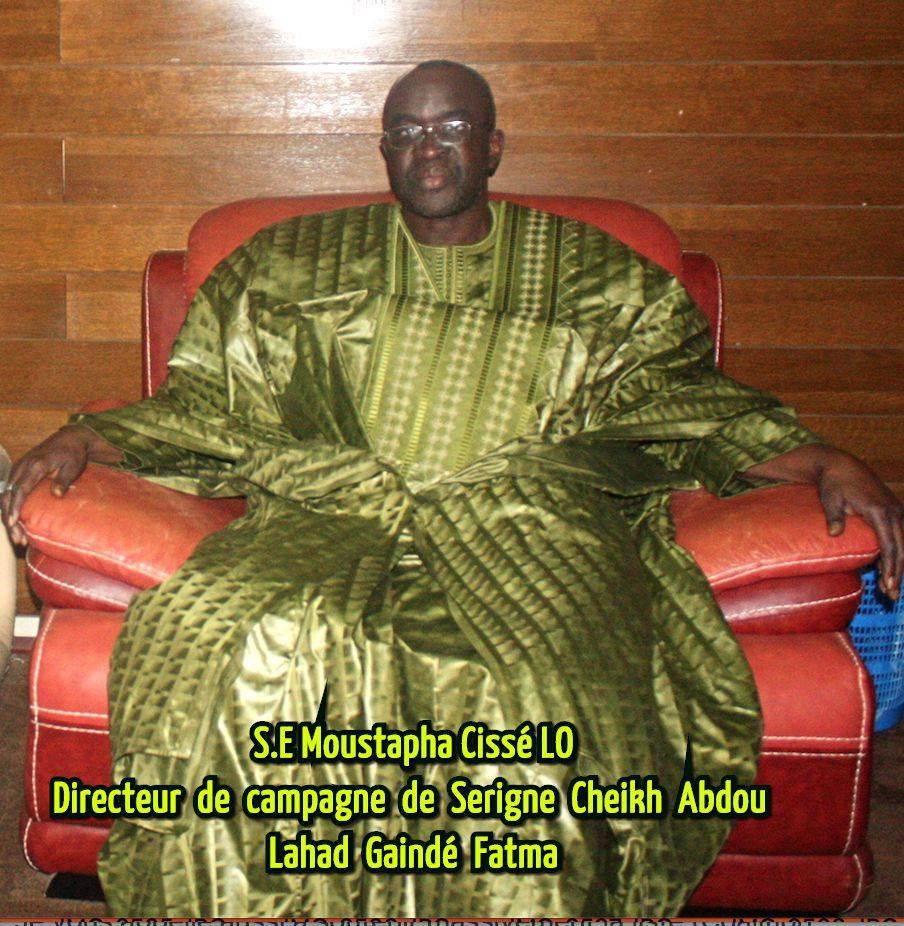 Politique : L'appel de Moustapha Cissé Lo directeur de campagne de Serigne Abdou Lahad Mbacké Gaindé Fatma