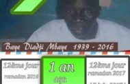 Souvenir :  Mon ami et père, Baye Diadji Mbaye : 1 an déjà ! ( Papa Saer Mbaye journaliste )