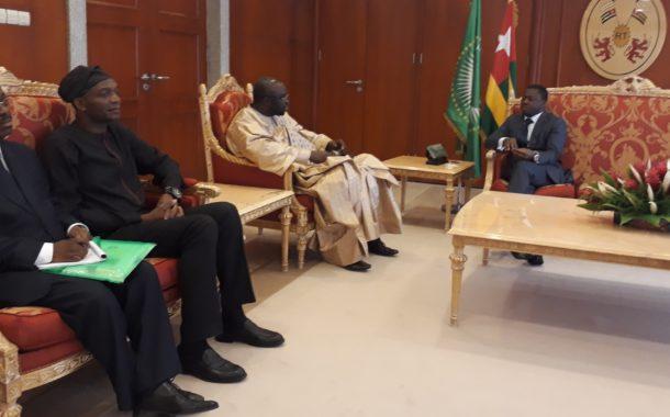 CEDEAO : Le président du parlement sous régional S.E. Moustapha Cissé Lo  en audience chez S. E. Faure Gnassingbé du Togo