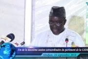 CEDEAO : Clôture de la deuxième session extraordinaire du parlement sous régional à Abidjan