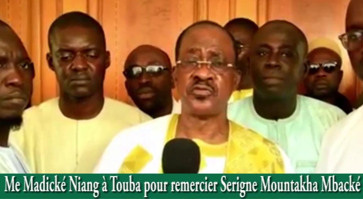 Me Madické Niang à Touba pour remercier le KGM et séduire l'électorat de la cité religieuse