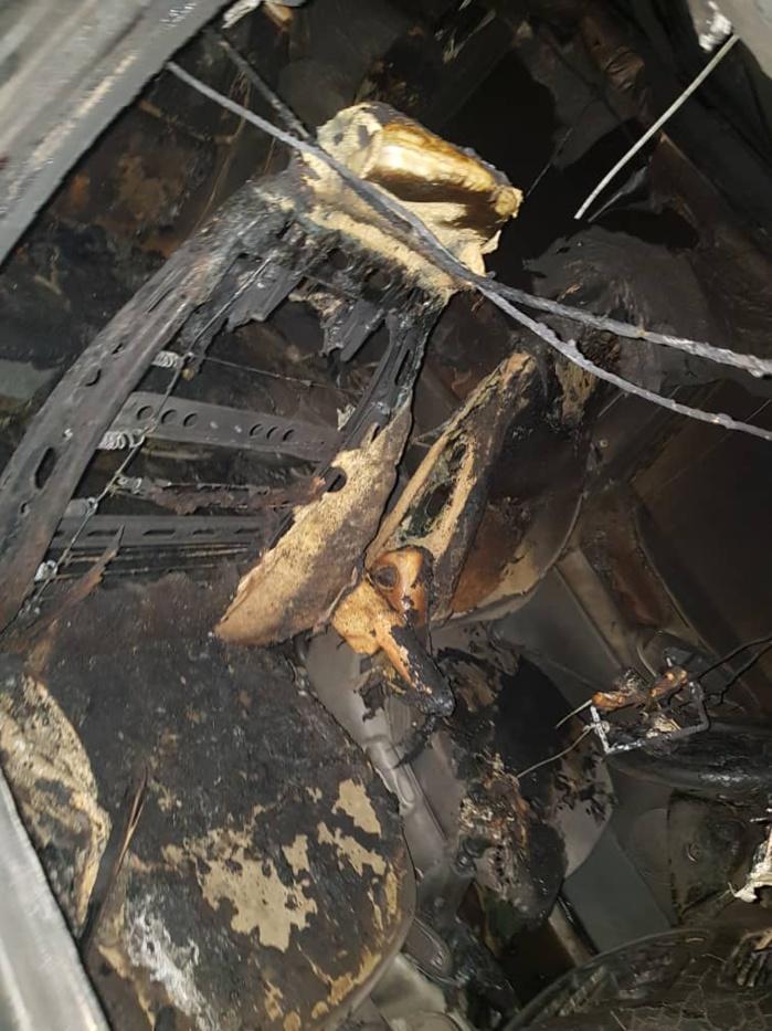 Incendie / Un véhicule du député Abdou Lahad Seck Sadaga brulé chez lui à Touba Sourah