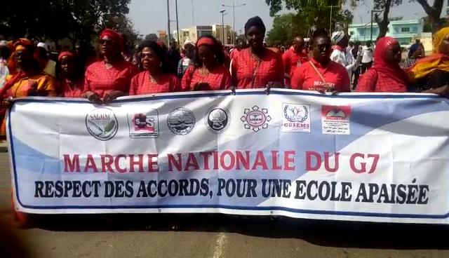Marche nationale du G7 à Thies, les enseignants demandent à l'état le respect des accords