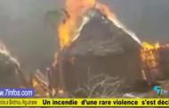 Drame à Koungheul , Sinthiou Nguérane : Un incendie ravage une vingtaine de maisons, des vivres et du bétail .