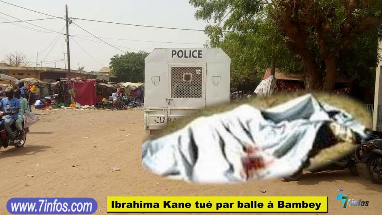 Drame à Bambey, Ibrahima Kane âgé de 16 ans, Tué accidentellement par balle au quartier