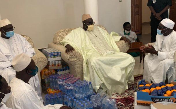 Religion : Rappel à Dieu de Serigne Pape Malick Sy, Hon. Moustapha Cissé Lo à Tivaouane pour présenter ses condoléances